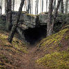 The Cave Entrance from Dark.