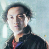 Change Lee from Doctor Who the TV Movie with a blue background