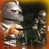 Two helmeted Sontarans from the Invasion of Time